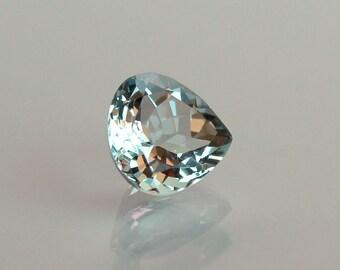 Aquamarine loose gemstone Light blue stone Pear Aquamarine 1.70ct loose stone for pendant March Birthstone
