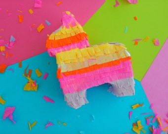Mini Pinata Party Favor 6 inches, Mexican Fiesta Favors, Donkey Pinata Favors, Fiesta Babyshower, Fiesta first Birthday,Cinco De Mayo
