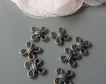 10 x 10, 8 mm square copper connectors