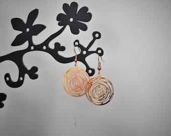 Light gold earrings