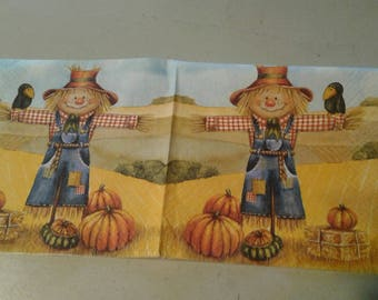 "Pretty NAPKIN pattern ""Scarecrow"""