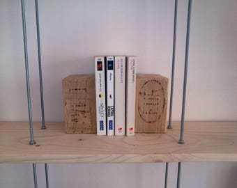 Bookends in light wood (pair)