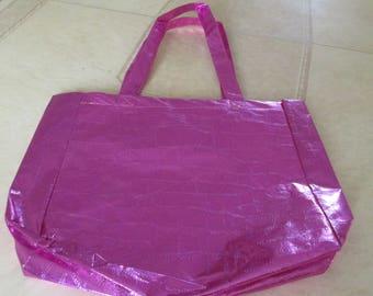 bag plastic fuchsia