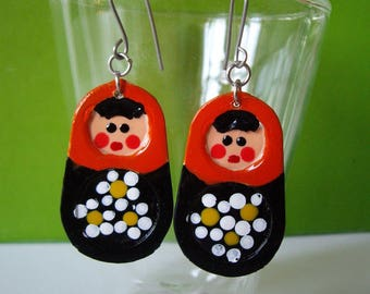Russian Doll Earrings ArancioNeri
