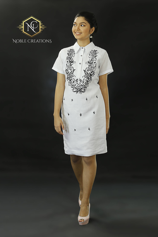 Filipiniana cocktail dress