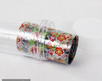Transfer Foils, paper transfer Nail art flower n ° 2