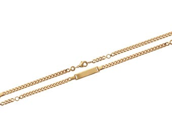 Plated mixed chain bracelet gold 16 cm / 60283416