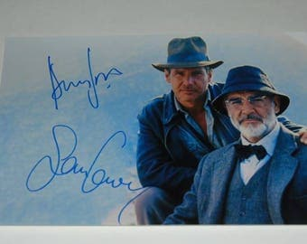 Indiana Jones And The Last Crusade Cast Signed Autographed Photograph Harrison Ford