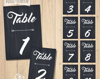 Cards, table, customizable {to print yourself}
