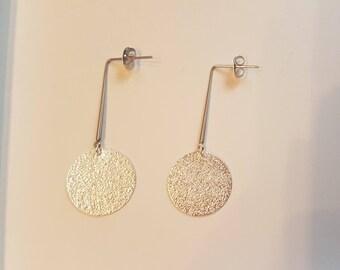 Earrings - geometric - silver
