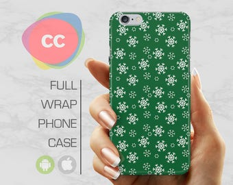 Christmas Snowflakes Phone Case - iPhone 7 Case - iPhone 8 Case - iPhone X, 8, 7, 6, 6S, 5S, 5, SE Case - Samsung S8, S7, S6 Case - PC-293