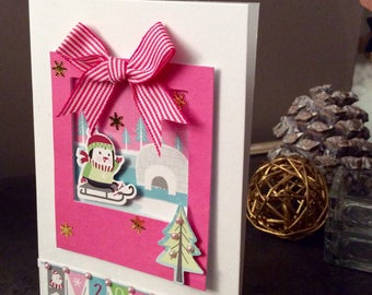 Set of 4 greeting cards - themed Penguin - 100% customizable
