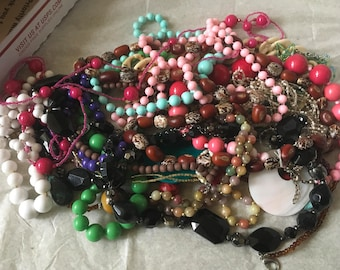 Z3, Vintage mixed beaded necklaces, wear or resell or reuse.