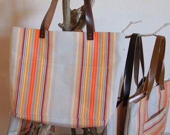 "Style recycled collection ""Lounger"" textile tote bag shopper"
