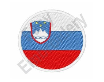 Slovenia Flag - Machine Embroidery Design