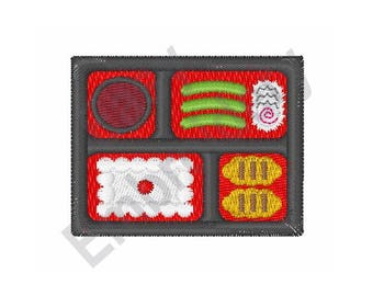 Bento Box Sushi - Machine Embroidery Design