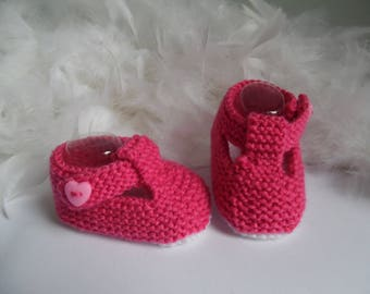 Baby girl 0/3 months booties/shoes
