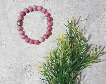 Heal Your Heart Bracelet~Rhodonite; Mala