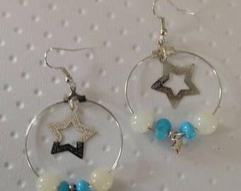 Silver hoop charms