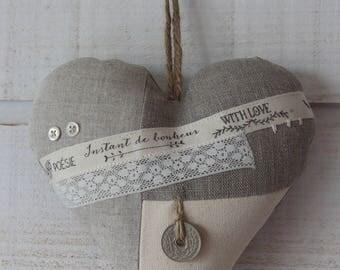 Decorative heart linen (No. 37)