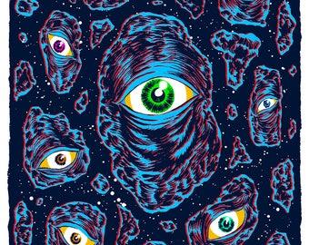 Watchers  -  Art Print - 9 x 6 - Ink - Drawing - Digital - Illustration