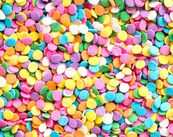 Bright Sequence Confetti Quins! Birthday Party Cupcake Toppings Cake Decorating Candy Sprinkles Jimmies Sugar Pearls Cookie Decor, Baking!
