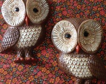 Retro Owl Wall Plaques