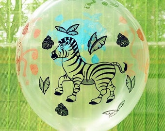 5 balls with animals for kids birthday