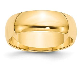 New 10K Solid Yellow Gold 6mm Men's and Women's Wedding Band Ring Sizes 4-14. Solid 10k Yellow Gold, Made in the U.S.A.