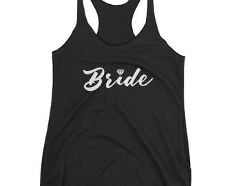 Bride Diamond - Women's Flowy Racerback Tank