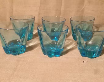 Set of 6 vintage drinking glasses