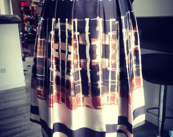 Skirt worn Mily leaf pleated polyester