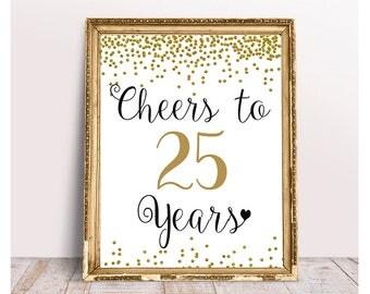 25th Birthday Etsy