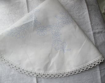round cotton doily 50cm embroidery, flowers, mother's day