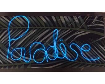 Custom made neon sign