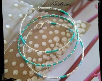 Bracelets circles Turquoise x 3 full size