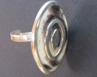 Modern silver ring adjustable size
