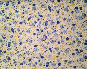 Great vintage cotton with blue flowers