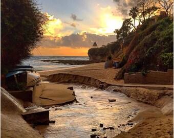 Laguna Beach Fishersmans cove at Sunset