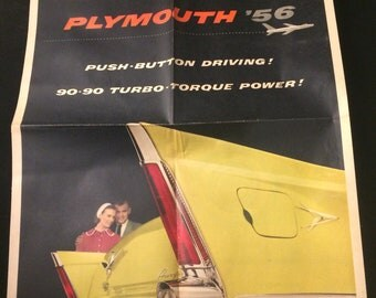 Scarce 1956 Plymouth dealer news print advertisement