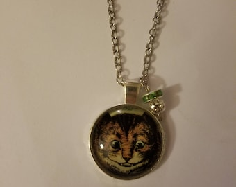 Handmade Cheshire face Necklace with Pendant