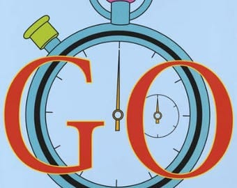MICHAEL CRAIG-MARTIN - 'Go' - original limited edition London Olympics poster - c2012 (Damien Hirst interest)