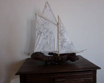 boat Driftwood cotton sails