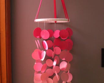 Large Circles Mobile / Nursery Mobile / Pink Buttons