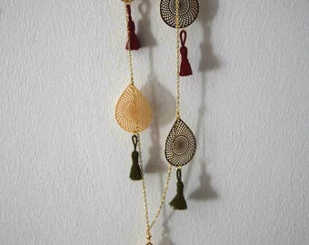 Long necklace tassels