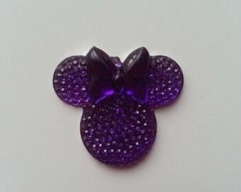 tête de souris minnie violet 30*25mm