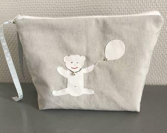 Baby fleece tote bag