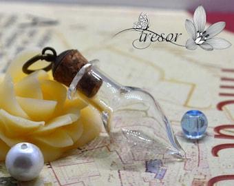 glass vial, bottle, hat, 15x30mm