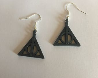 Harry Potter Deathly Hallows Earrings - 3D Printed