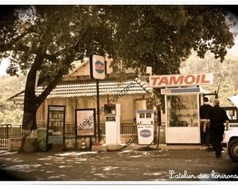 Original poster A3 Photo petrol pump